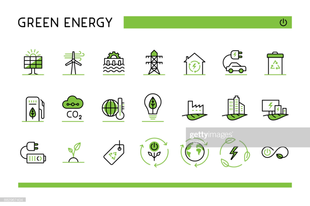 Editable Set Of Vector Icons On Layers Ecology Icon Energy