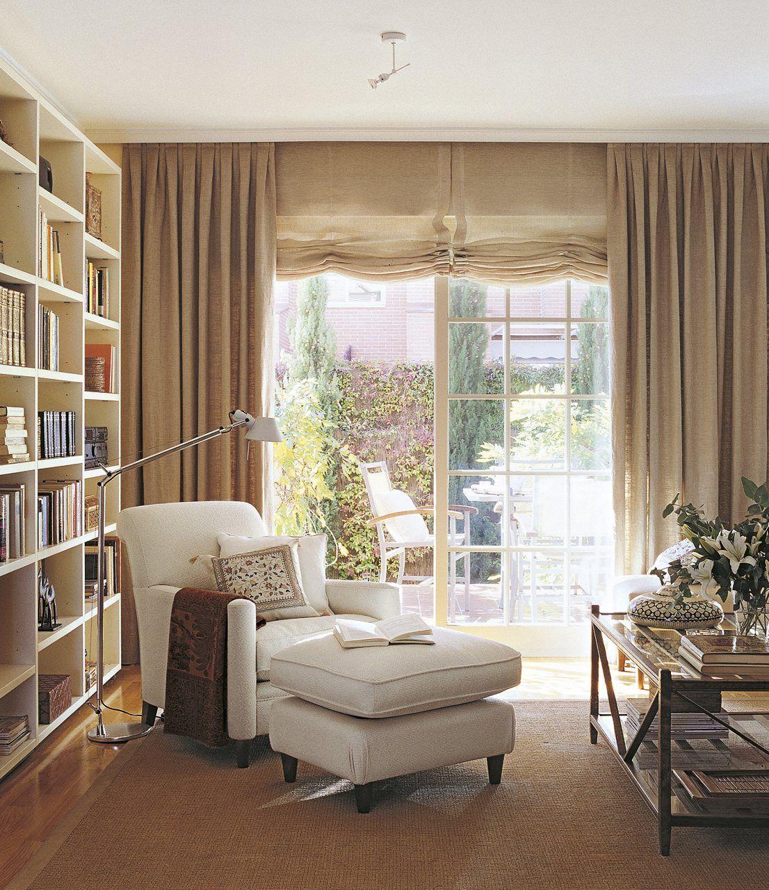 Resultado de imagen de cortinas de lino para salon | Interiores ...