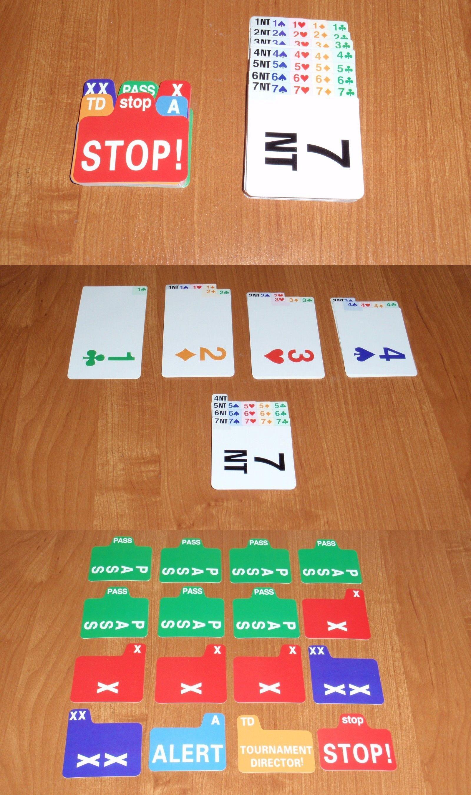 Card gamesvintage 146004 bridge bidding cards set of