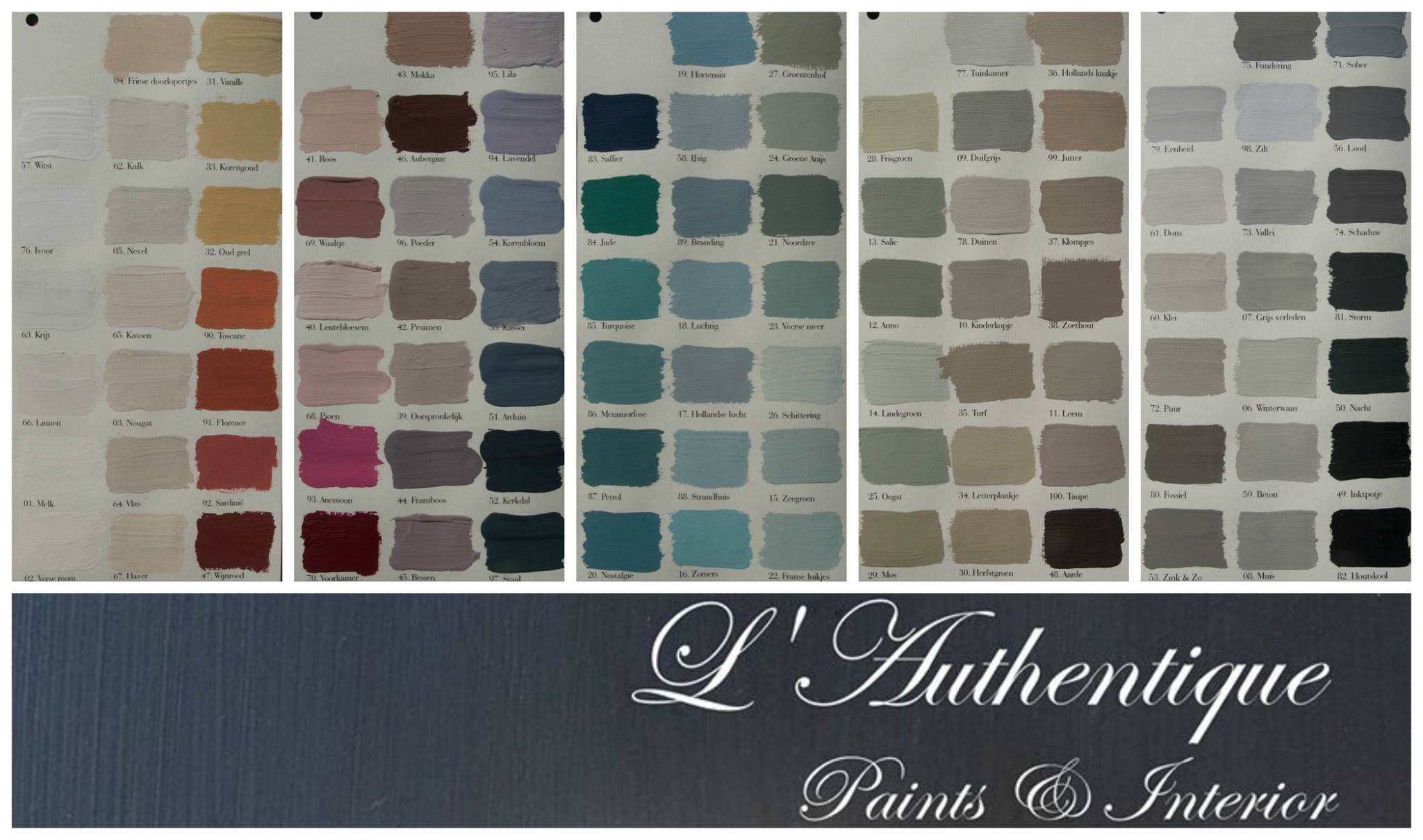Afbeeldingsresultaat voor l'authentique kleurenkaart