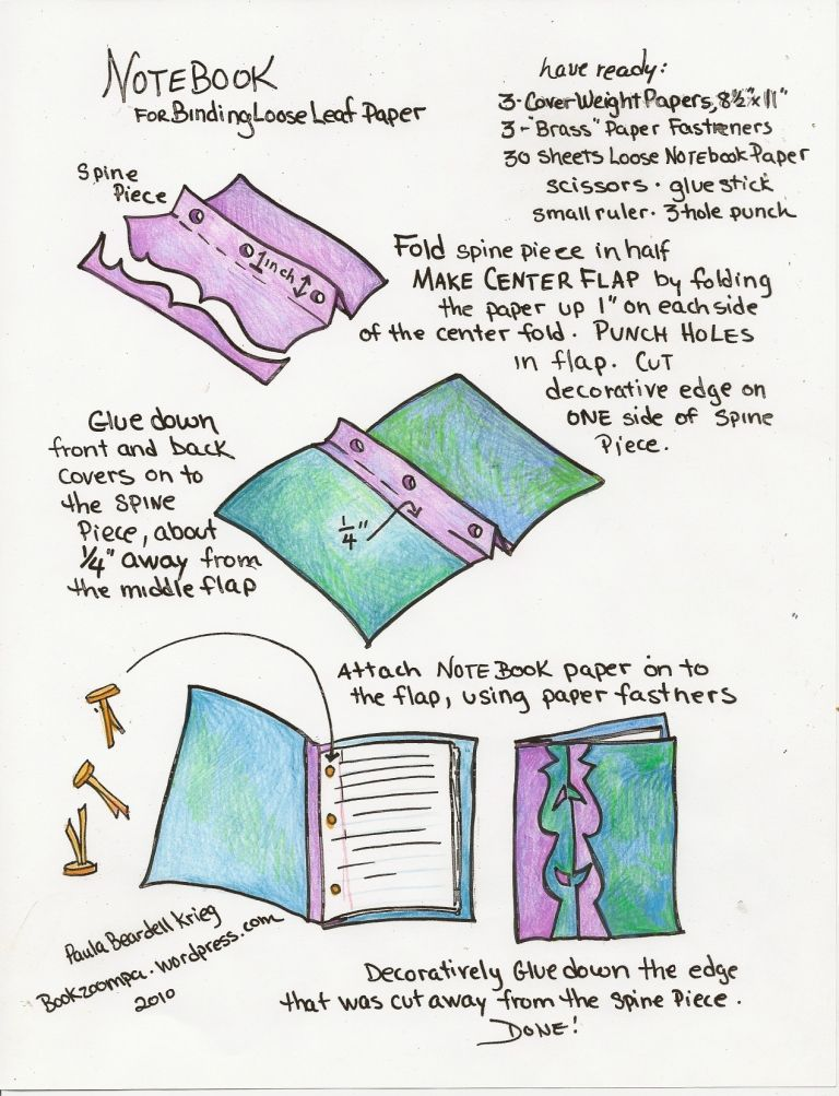 how to make a notebook using loose leaf paper journal ideas
