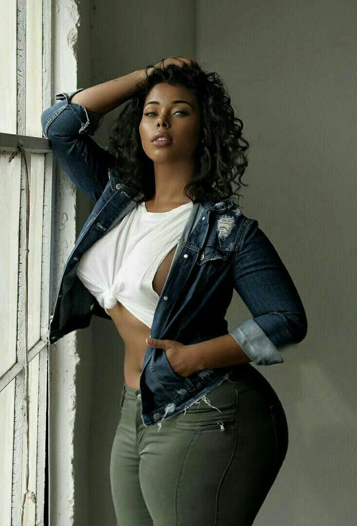 Sexy african jeans girl