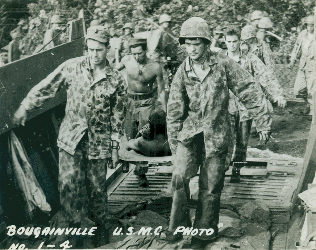 Bougainville USMC Photo No. 1-4 From the Frederick R. Findtner Collection (COLL/3890), Marine Corps Archives & Special Collections OFFICIAL USMC PHOTOGRAPH