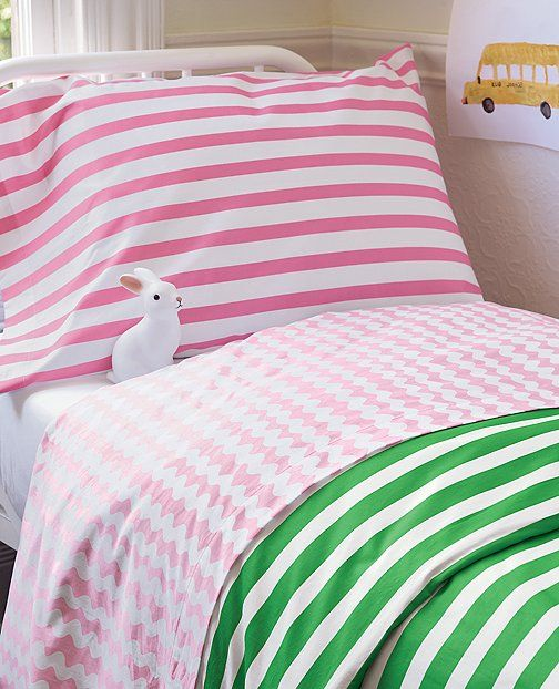 Comfiest Ever Combed Cotton 300 Thread Count Matte Sa Sheet Set From Hanna Andersson Home Featuring Yarn Dyed Stripes And Finished Without Chemical