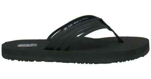 Original Mush  Womens Flip Flops, Black Sandals, Black -8894