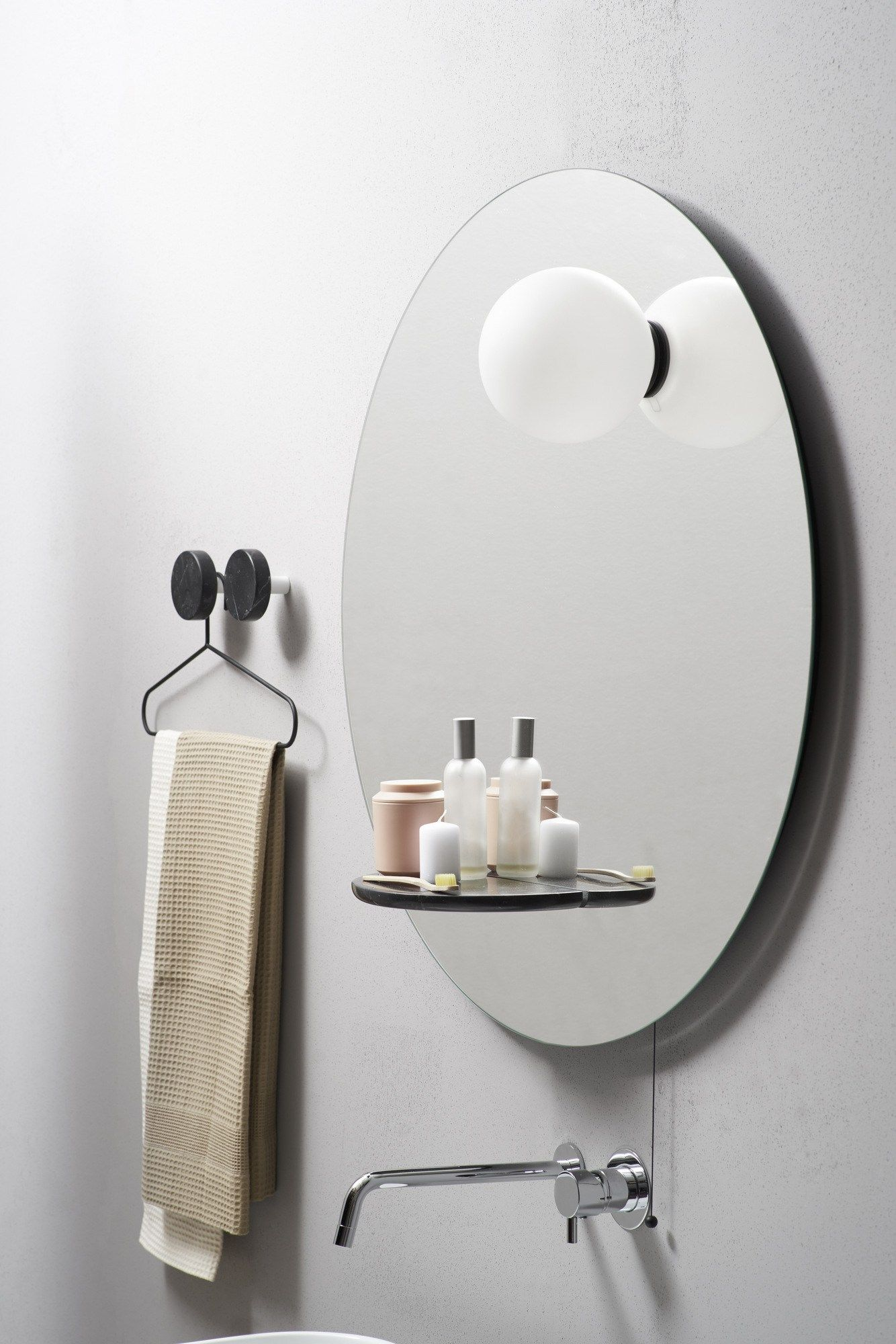 Round wall-mounted bathroom mirror FLOAT - @extdesign | Mirrors ...