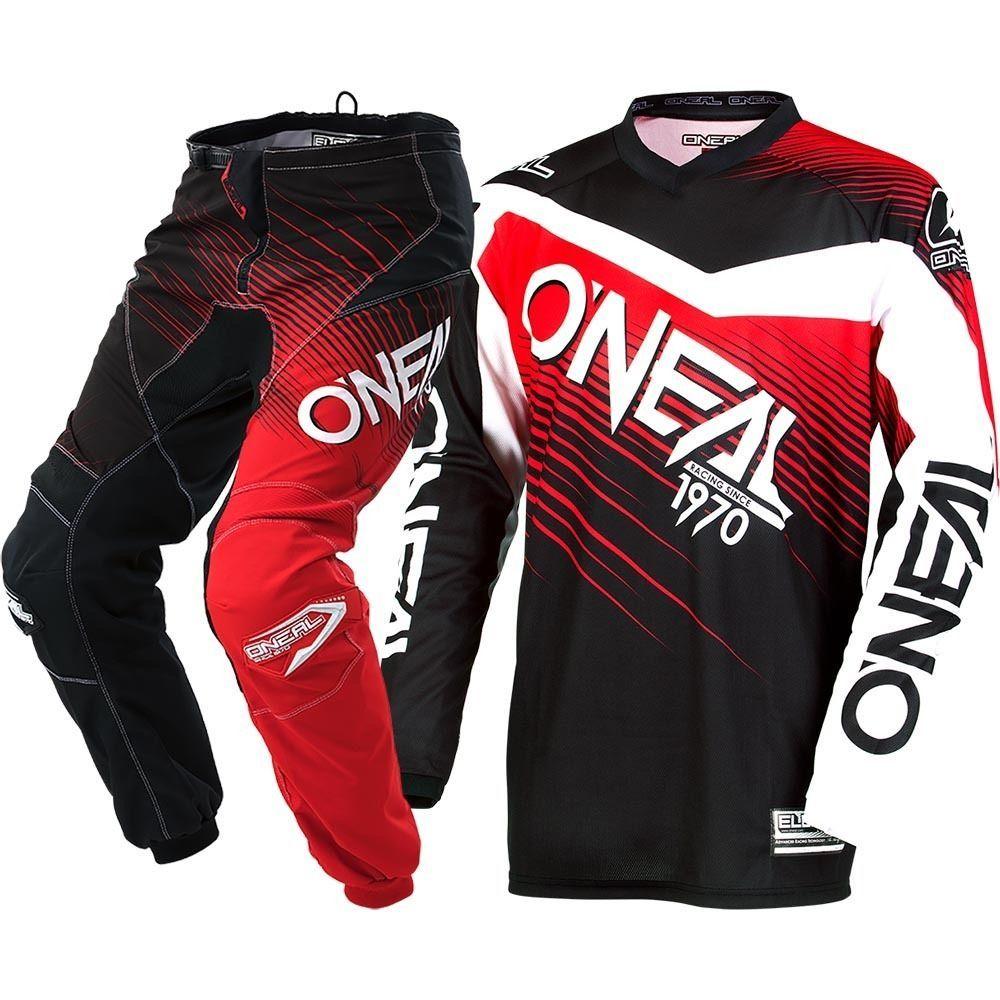 b9fbf2b8a NEW Oneal 2018 MX Element Black Red Jersey Pants Cheap Adult Motocross Gear  Set