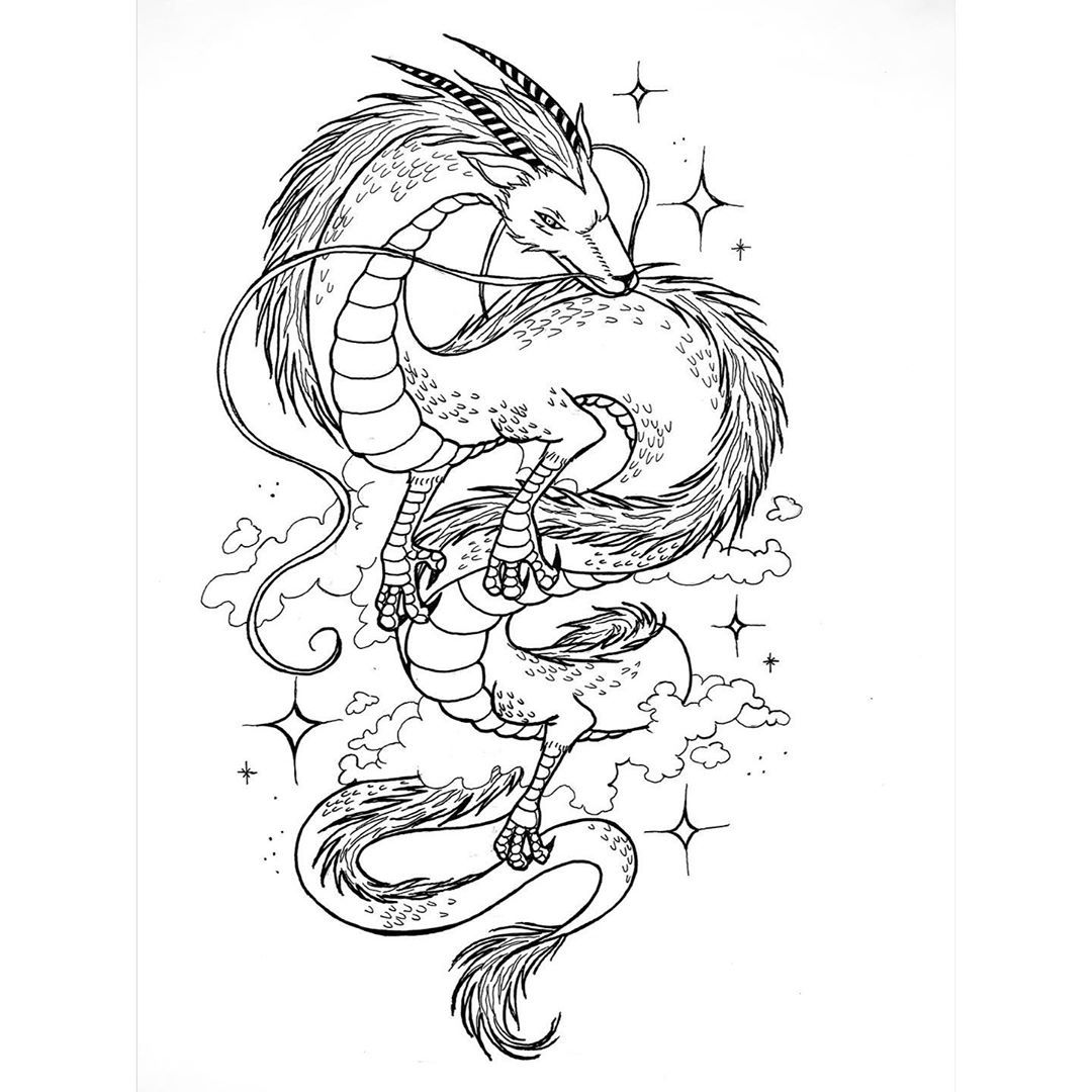 Haku Dragon From Spirited Away By Nore A Rt On Instagram In 2020 Ghibli Tattoo Studio Ghibli Tattoo Spirited Away Tattoo