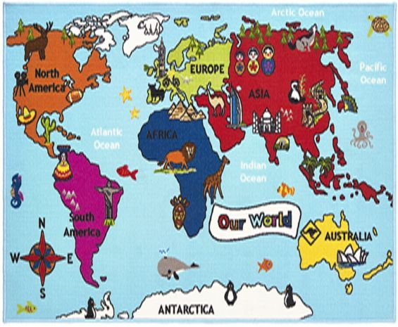 Buy world map rug 100 x 150 cm from our rugs range tesco home buy world map rug 100 x 150 cm from our rugs range tesco gumiabroncs Images