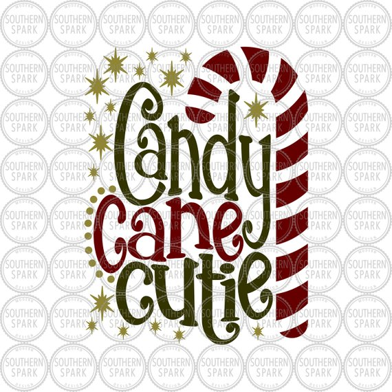 Candy Cane Cutie Christmas svg png eps pdf jpg dxf