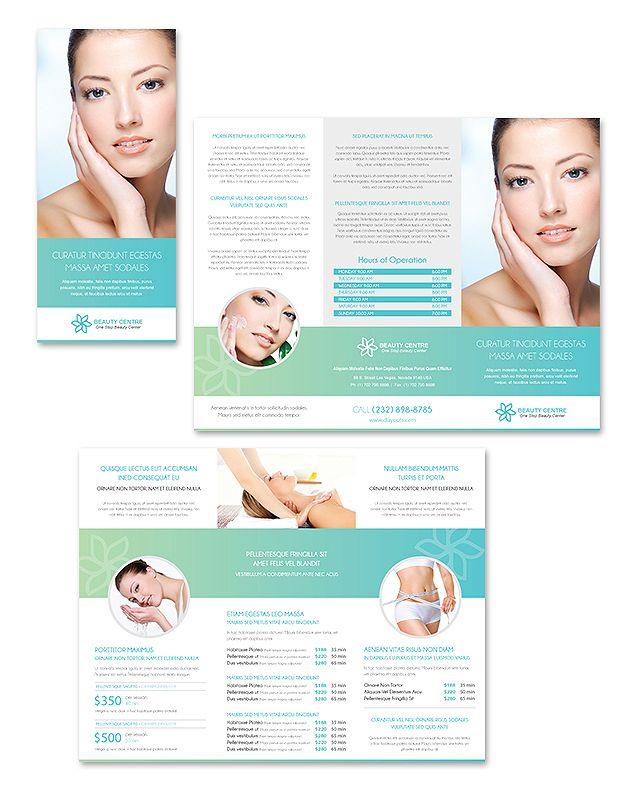 Beauty Spa Salon Tri Fold Brochure Template  Creative Brochure