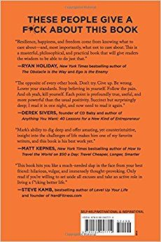 The Subtle Art Of Not Giving A Fck A Counterintuitive Approach To Living A Good Life Mark Manson 9780062457714 Amazon Com Books Subtle Life Is Good Books