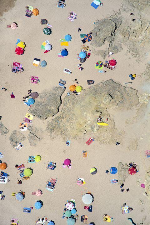 kleurrijk strand