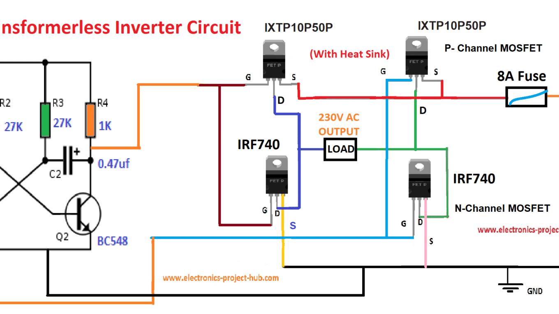 Simple Transformer Less Inverter Circuit 1000 Watt Diy