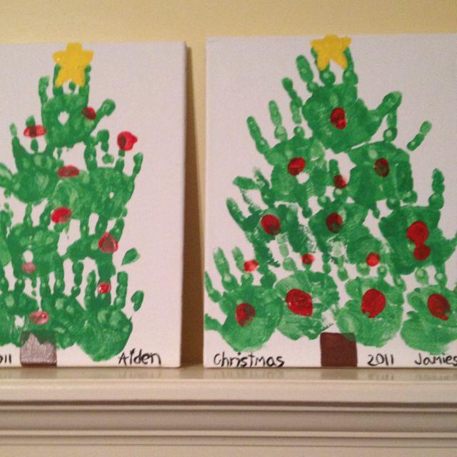 Handprint Art Christmas Tree Diy Christmas Art Handprint Crafts Handprint Christmas Tree