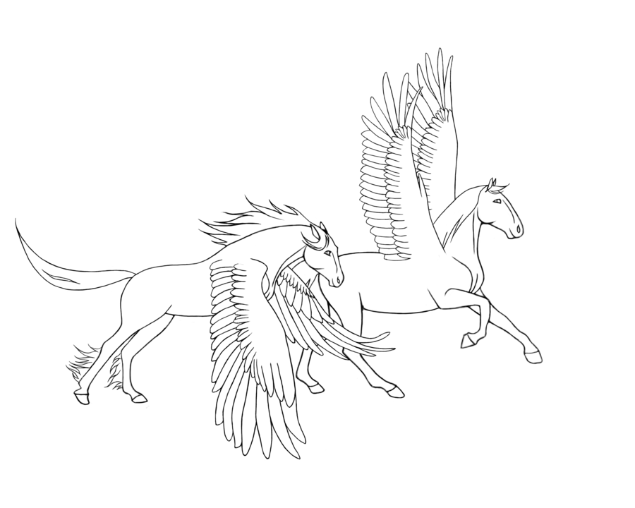 free_lineart_by_alissad-d4ucu9t.png (900×720) | Animals that I love ...