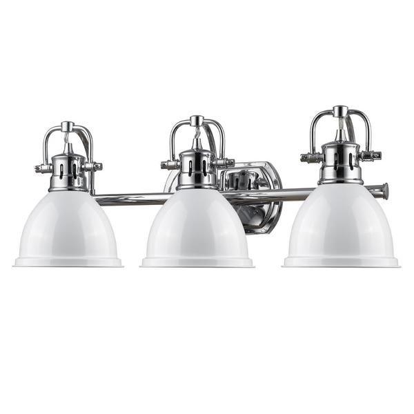 industrial bath lighting. Duncan Bath Light | Red 3-Light Shade Industrial Lighting