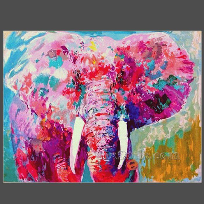 elephant paintings | Art: Abstract Elephant Portrait - sold by ...