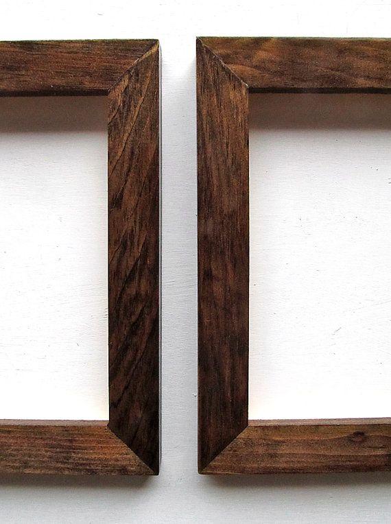 2 Dark Walnut Frames Pair Of Beautiful Dark Picture Frames 5x7 Natural Wood Dark Walnut Stain High Glos Dark Walnut Frame Dark Walnut Stain Picture Frames