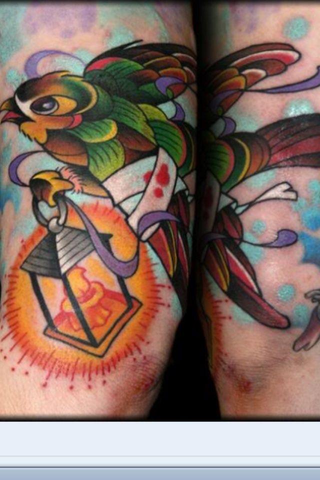 Florence Nightingale Inspired Lamp Tattoo