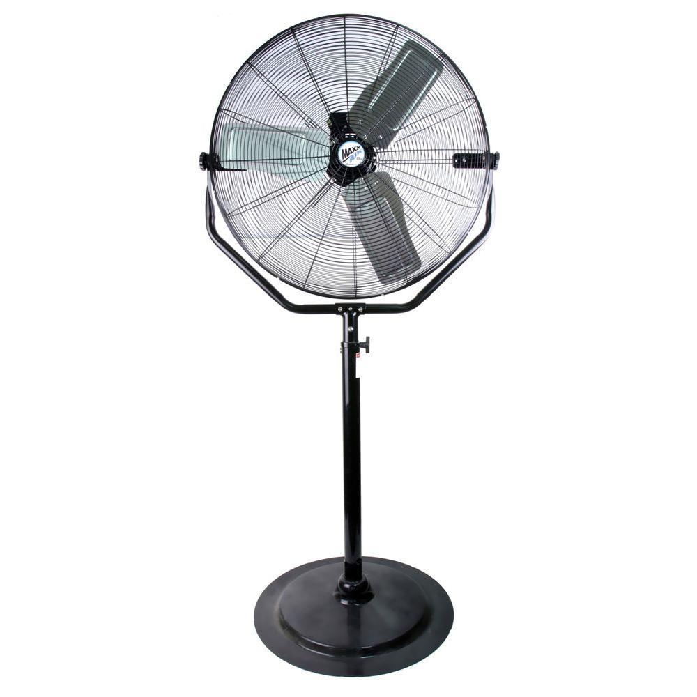 Maxxair Adjustable Height 30 In Pedestal Fan Hvpf 30 Yokeups The Home Depot Pedestal Fan Stand Fan Floor Fan