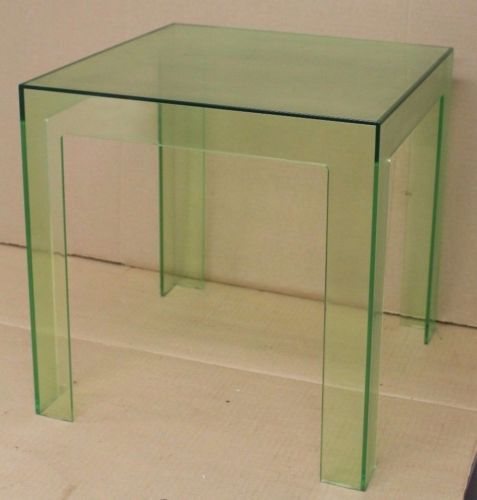 Vintage Paolo Rizzatto For Kartell Modern Green Acrylic Parsons Table Italy