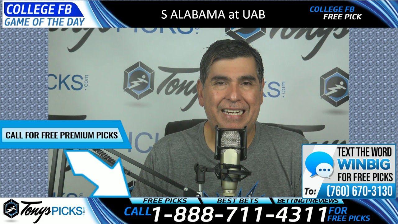 South Alabama vs. UAB Free NCAA Football Picks and