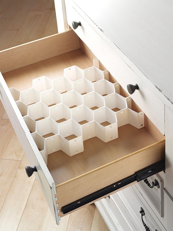 Amazon.com: Whitmor 6025-3928 8-Piece Honeycomb Drawer Organizer: Kitchen & Dining