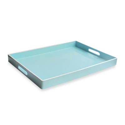 Rectangular Serving Tray In Teal Bed Bath Beyond Tray Tray