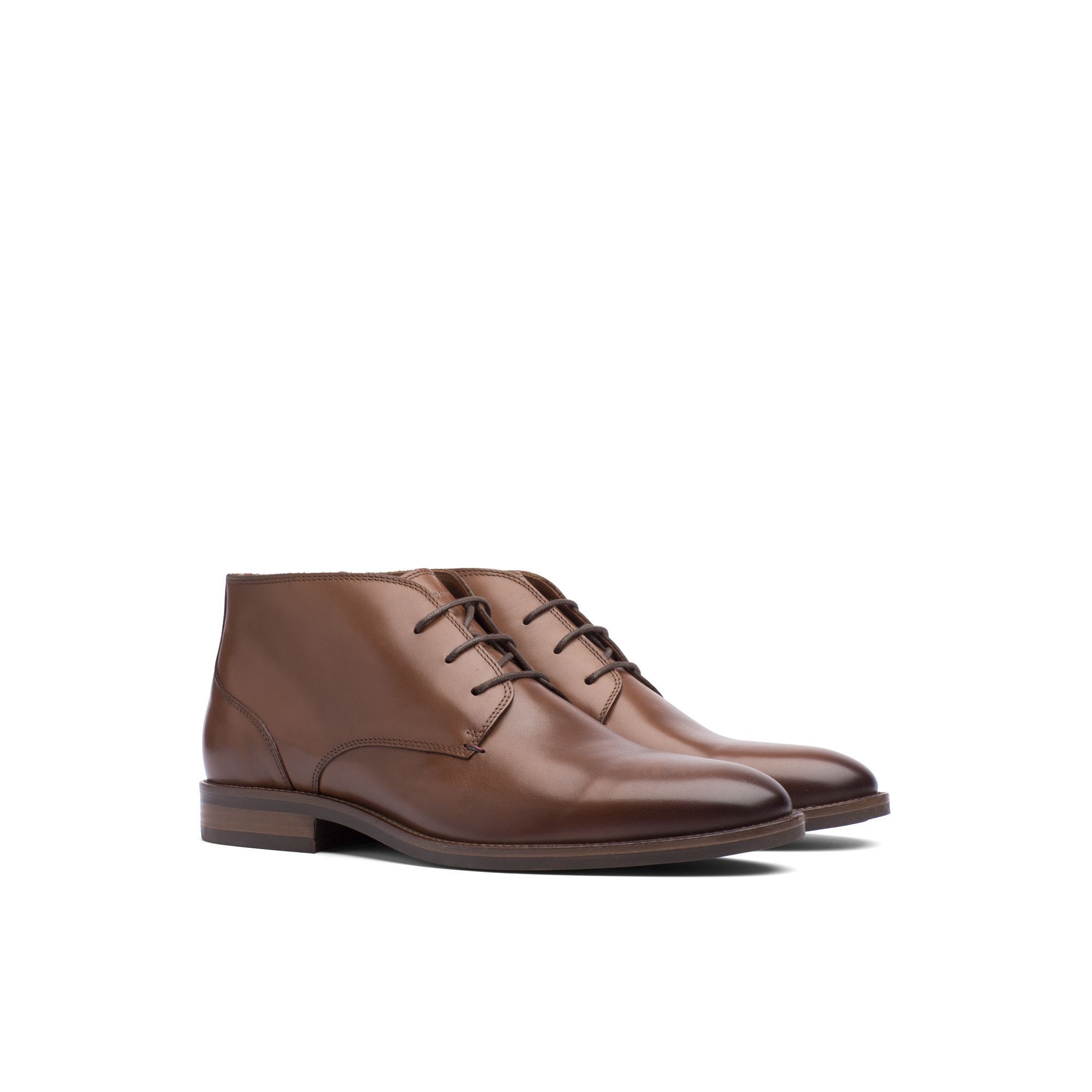 533c6e3d6a24b2 TOMMY HILFIGER LEATHER ANKLE BOOT - WINTER COGNAC.  tommyhilfiger  shoes