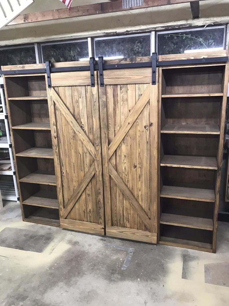 31++ Farmhouse barn door bookshelf type