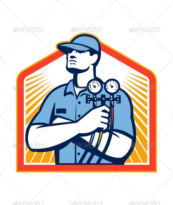 Refrigeration Air Conditioning Mechanic Front Refrigeration And Air Conditioning Air Conditioning Logo Air Conditioning