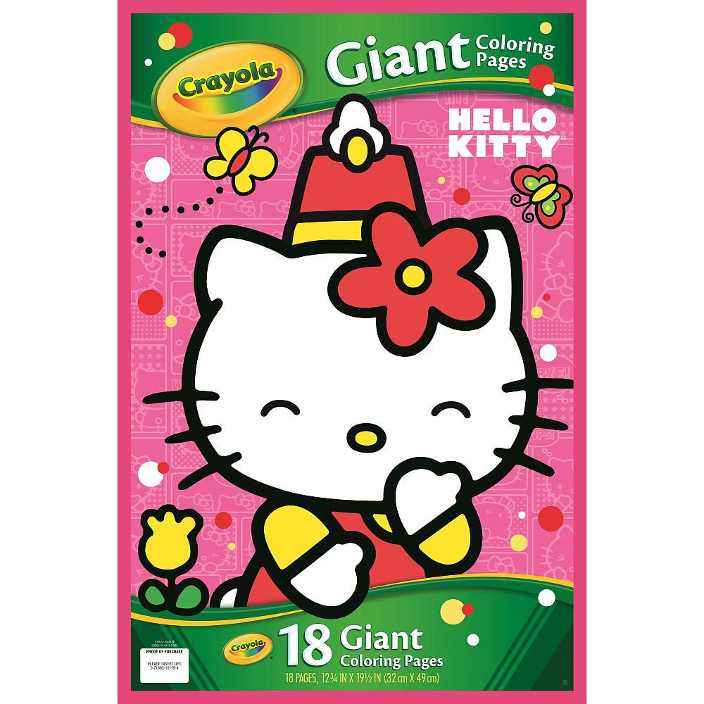 Crayola Giant Coloring Pages Hello Kitty Crayola Toys R Us