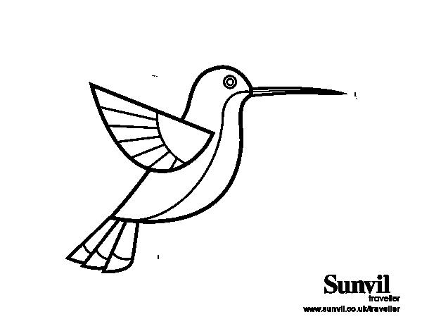Dibujo de Colibrí para colorear | Bordado Mexicano | Pinterest ...