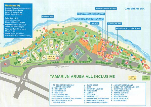 Tamarijn Aruba Resort Map Aruba Pinterest Aruba resorts