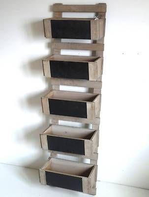 echelle escabeau a casier caisse bac en bois et ardoise. Black Bedroom Furniture Sets. Home Design Ideas