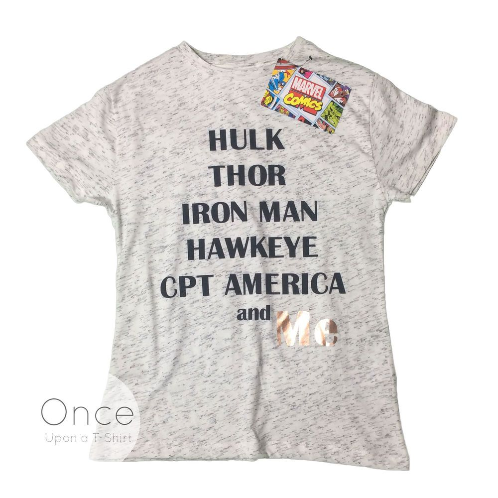 ADULT Ladies MARVEL AVENGERS AND ME Foil T Shirt from PRIMARK #Primark #Graphic