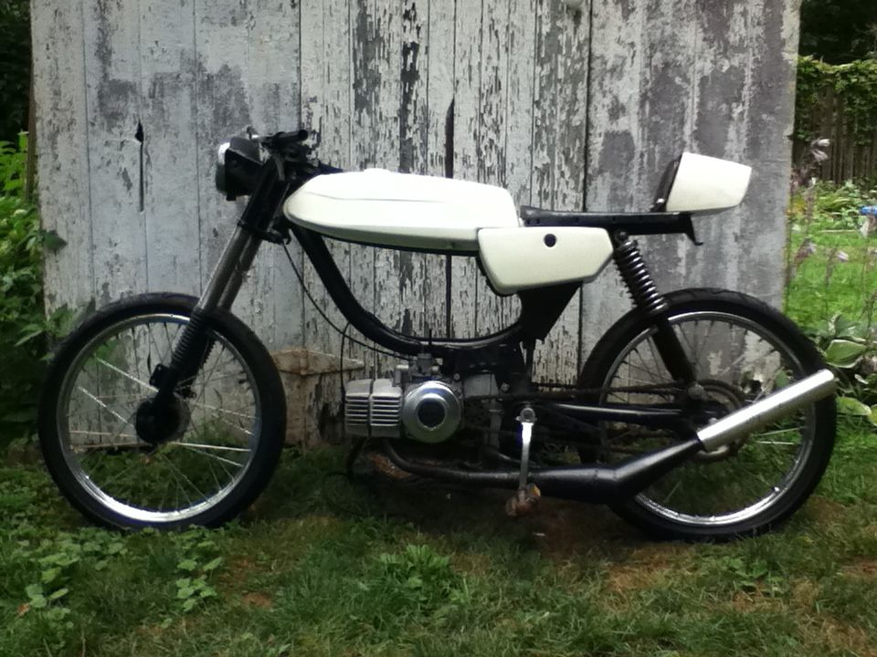 Pin By Derek Michael On Mopeds Cafe Racer Puch Racer