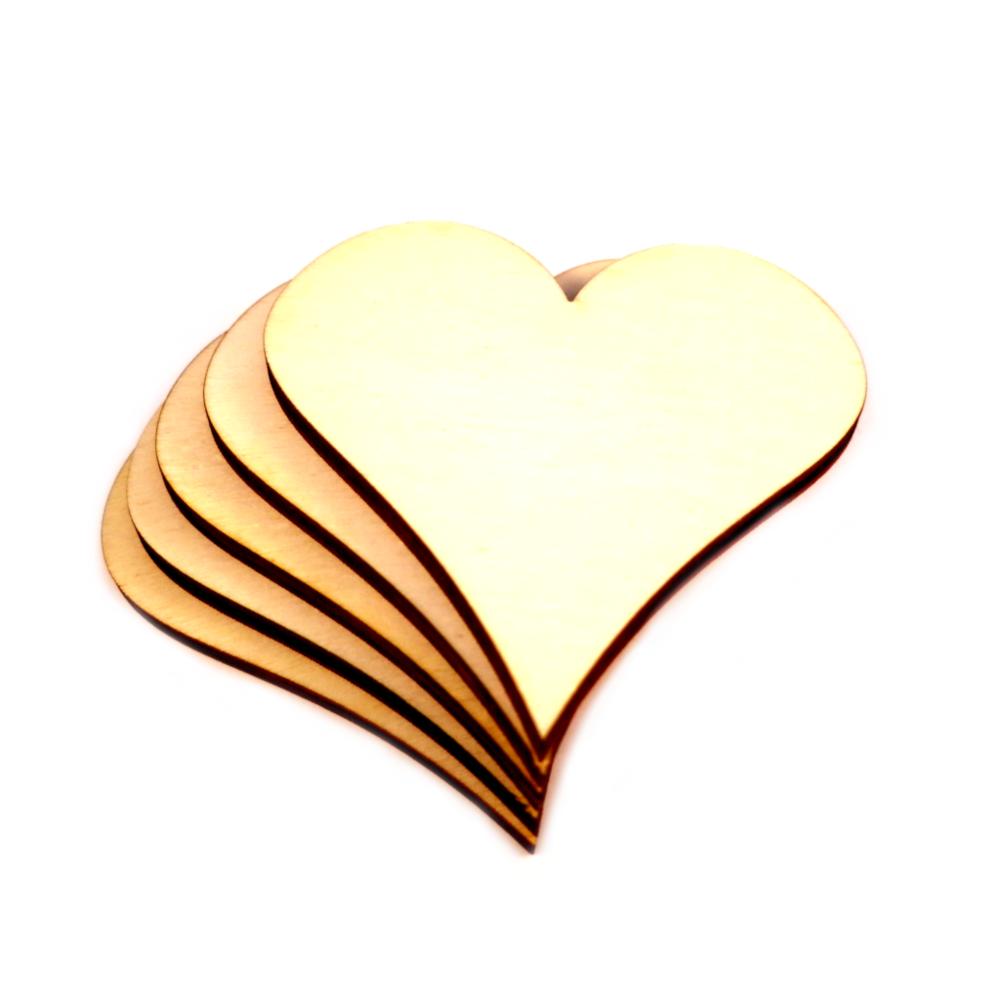 Holzherzen Herz Streuherzen DekoTischdeko Basteln Schmücken Dekorieren Love