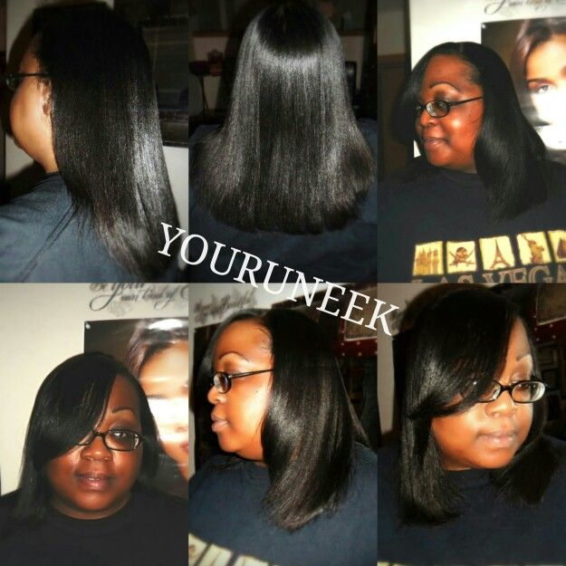 Relaxed Hair flat ironed and silk wrap | Healthy Hairstyles while ...