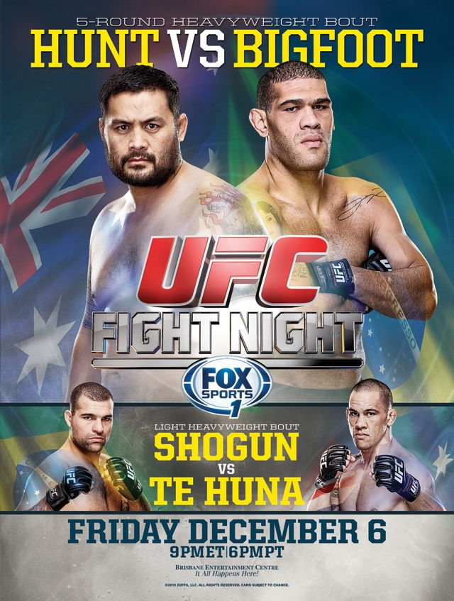 Ufc Fight Night Hunt Vs Bigfoot Ufc Fight Night Fight Night Ufc