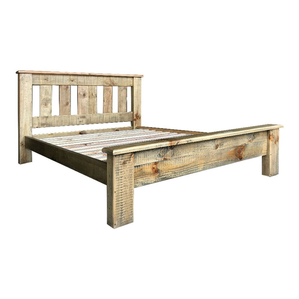 Bed Frame King Pine Amp Plywood Ozzy Colour Slat Amp Rails