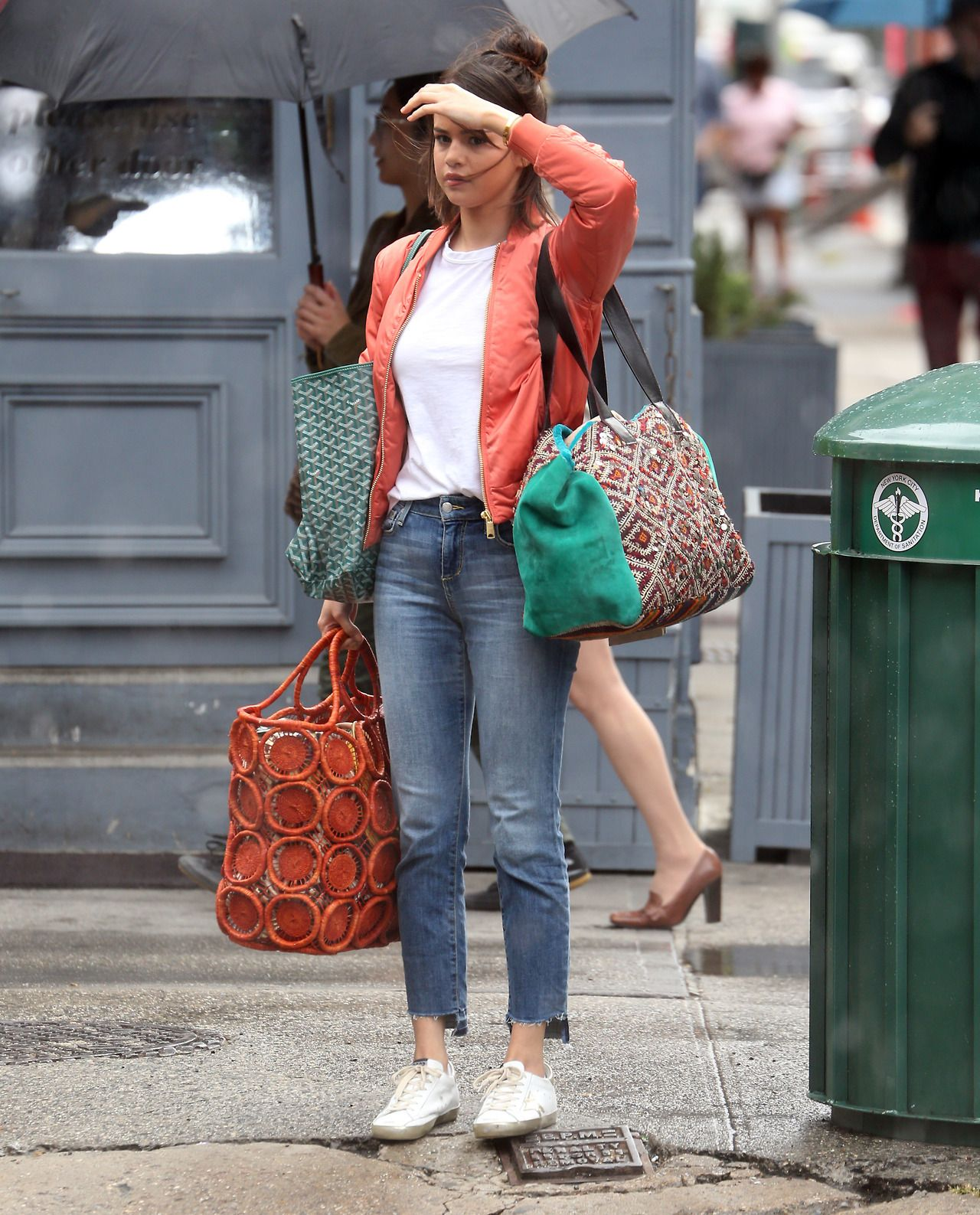 September 19: Selena on set of a movie in New York, NY