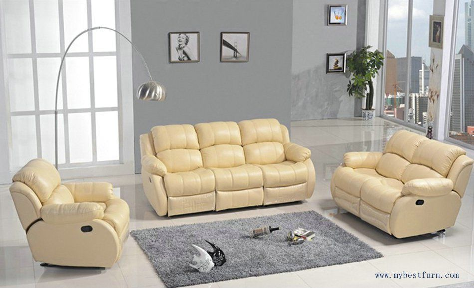 First Class Sofa Modern Design 1 2 3 Sectional Sofas Reclining Chair With Shake Retation Function Genuine Leather Re Echt Leder Sofa Relaxliege Wohnzimmer Sofa