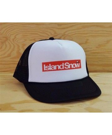 7762078d46558 Island Snow Hawaii Foam Trucker Hat - ISH Block Logo  Color Options   Black White and Red White.  20.00