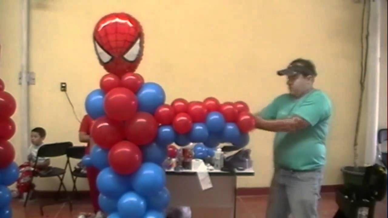 Curso decoracion con globos spiderman video 4 figuras - Curso decoracion con globos ...