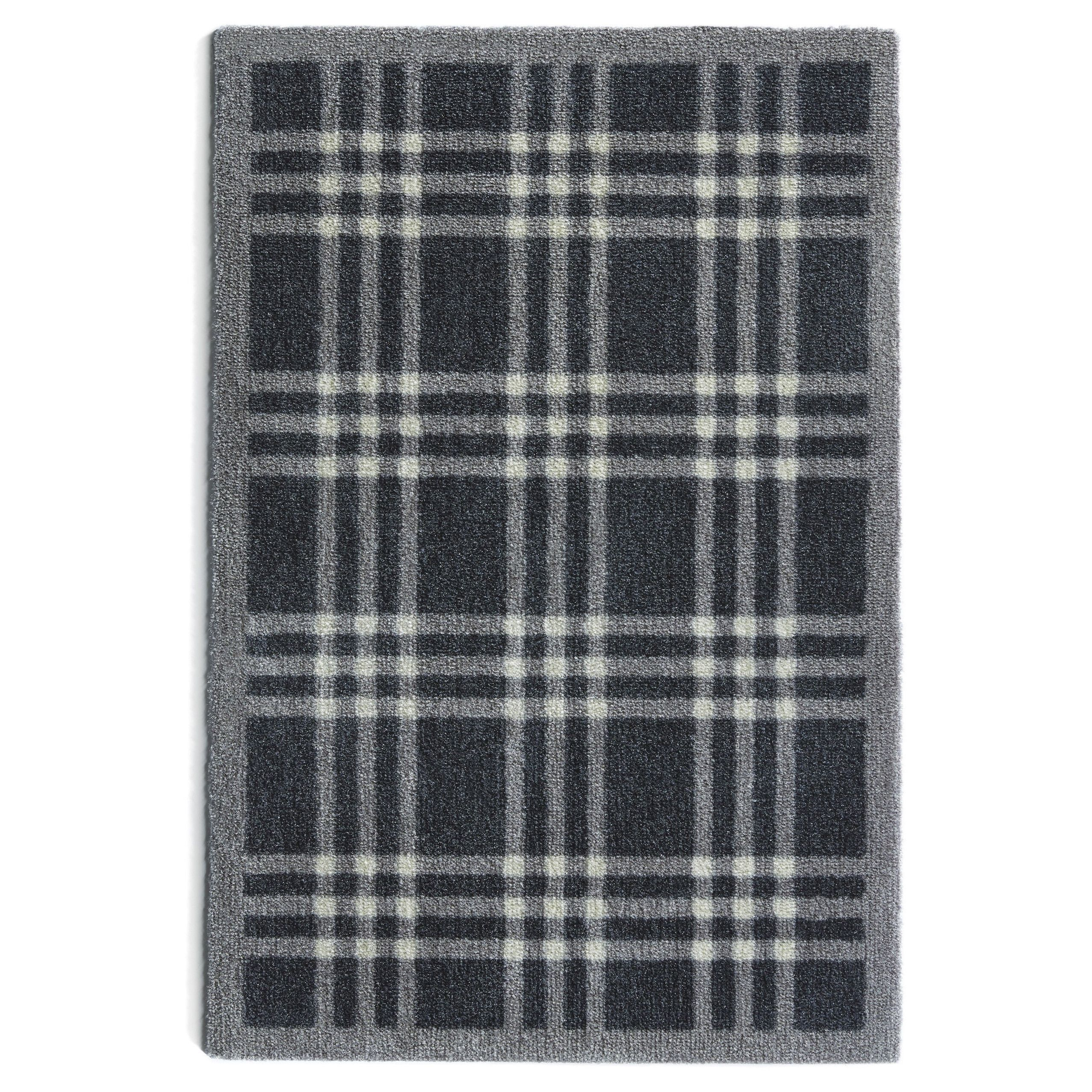 Muddle Mat Multicolored /Rubber Washable Accent Rug