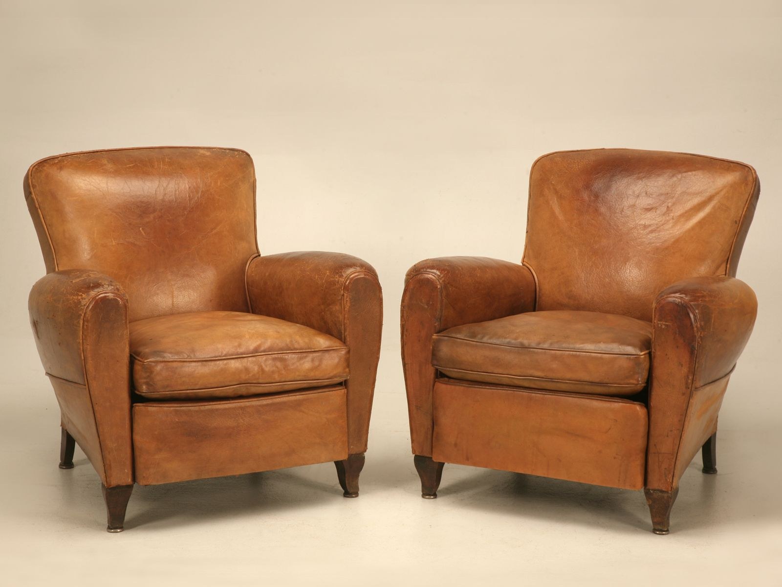 Handsome Pair Of Original Vintage French Leather Club Chairs Club Chairs Leather Club Chairs Small Leather Club Chair Leather club chairs for sale