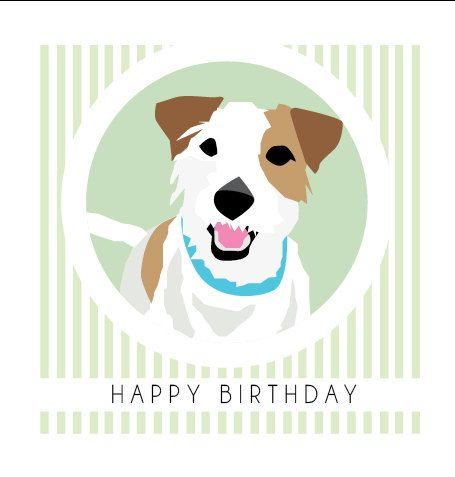 Jack Russell Birthday Card With Images Jack Russell Jack