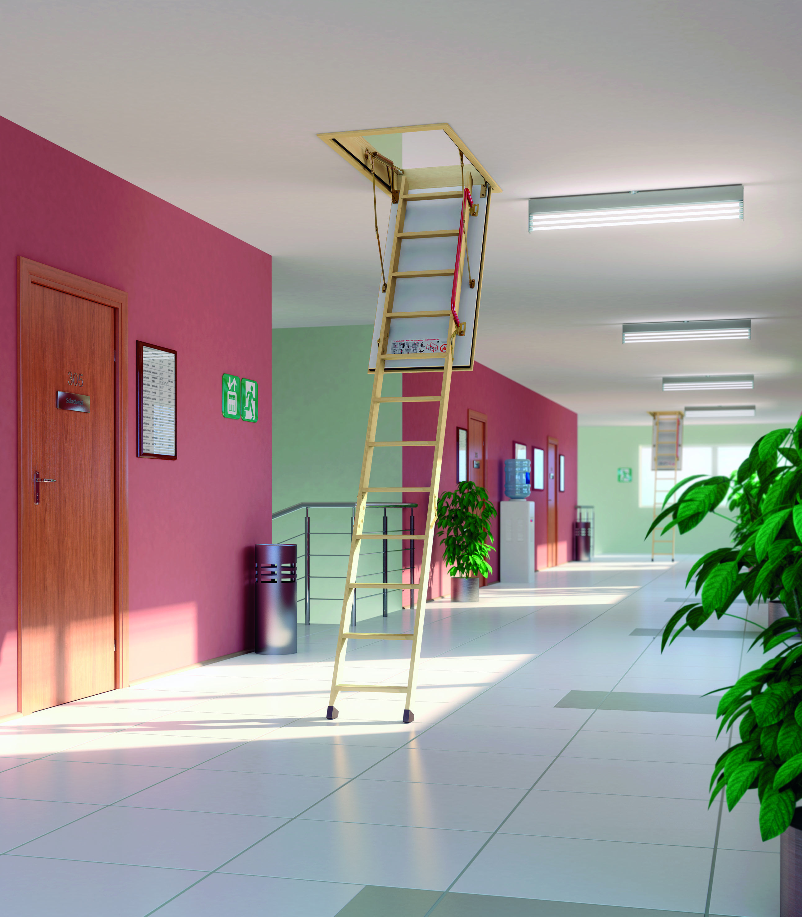 LWF Fire Rated (ET 30 min according to European Standards)  Insulated ladder with 300 lbs(136 kg) load capacity